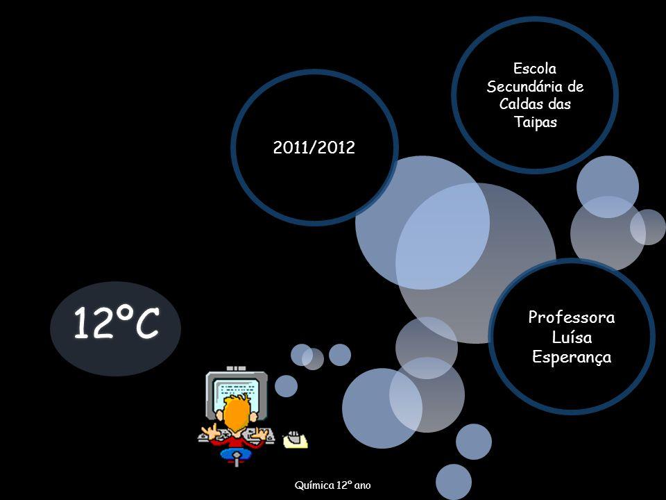 Química 12º ano Professora Luísa Esperança Escola Secundária de Caldas das Taipas 2011/2012 12ºC