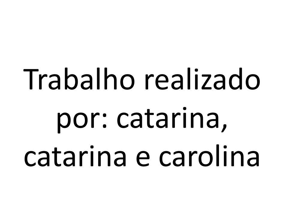 Trabalho realizado por: catarina, catarina e carolina