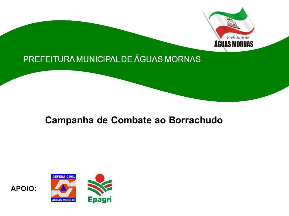 PREFEITURA MUNICIPAL DE ÁGUAS MORNAS Campanha de Combate ao Borrachudo APOIO: