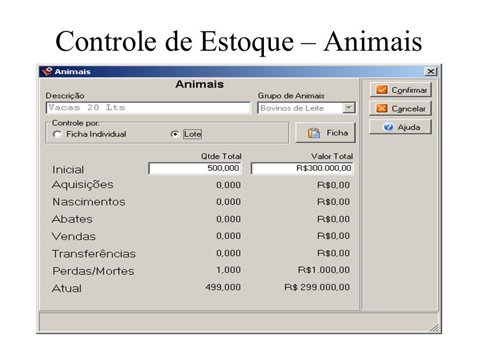 Controle de Estoque – Animais