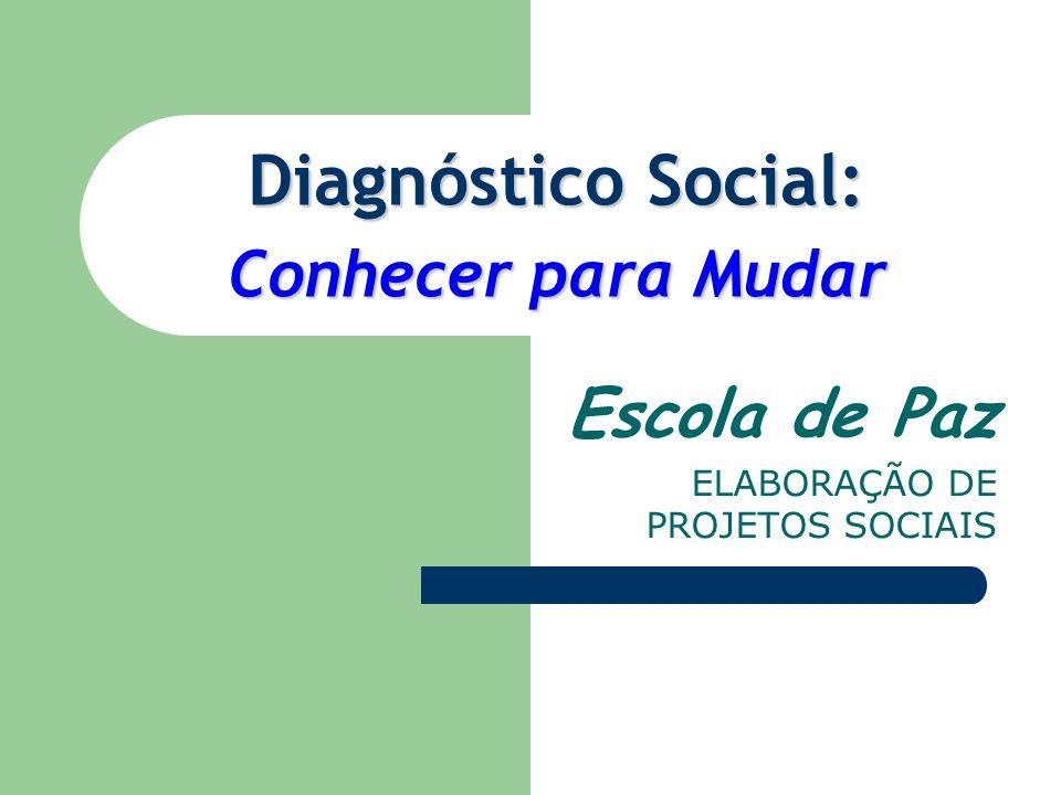 Diagnóstico Social: Conhecer para Mudar Escola de Paz ELABORAÇÃO DE PROJETOS SOCIAIS
