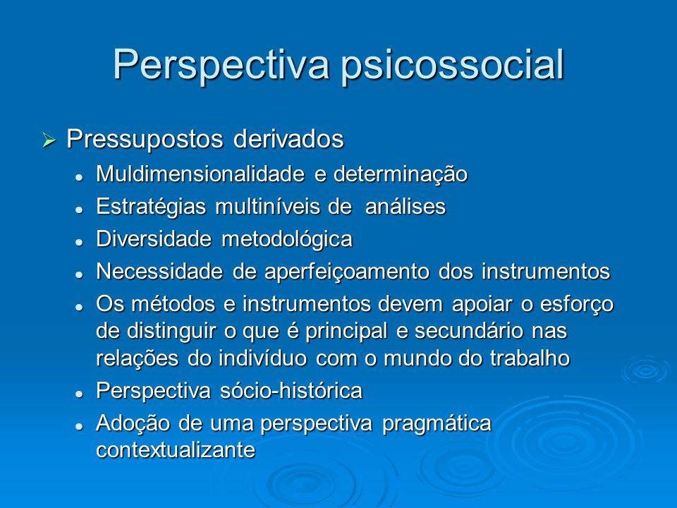  Pressupostos derivados Muldimensionalidade e determinação Muldimensionalidade e determinação Estratégias multiníveis de análises Estratégias multiní
