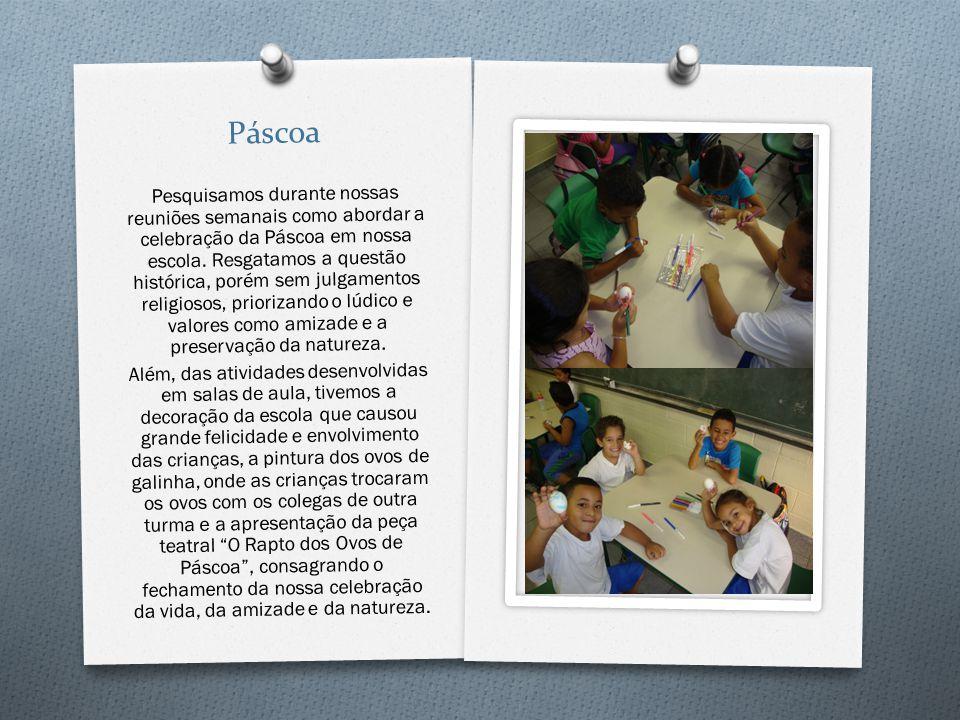 Páscoa Pesquisamos durante nossas reuniões semanais como abordar a celebração da Páscoa em nossa escola. Resgatamos a questão histórica, porém sem jul