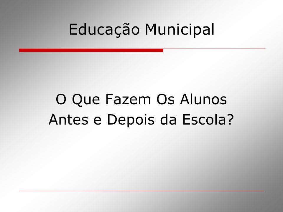Educação Municipal O Que Fazem Os Alunos Antes e Depois da Escola?
