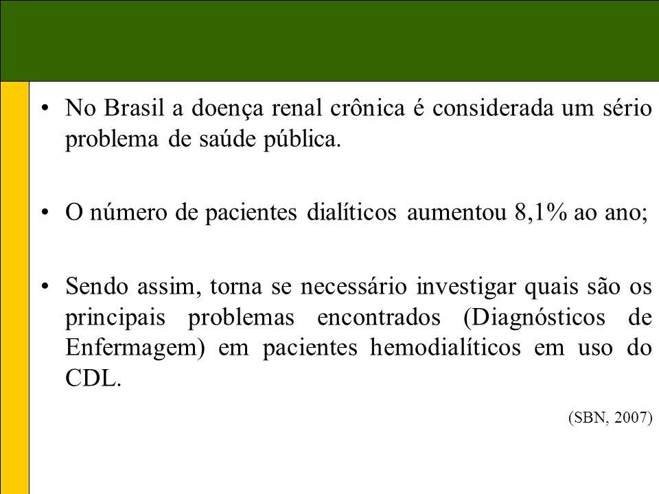 No Brasil a doença renal crônica é considerada um sério problema de saúde pública.