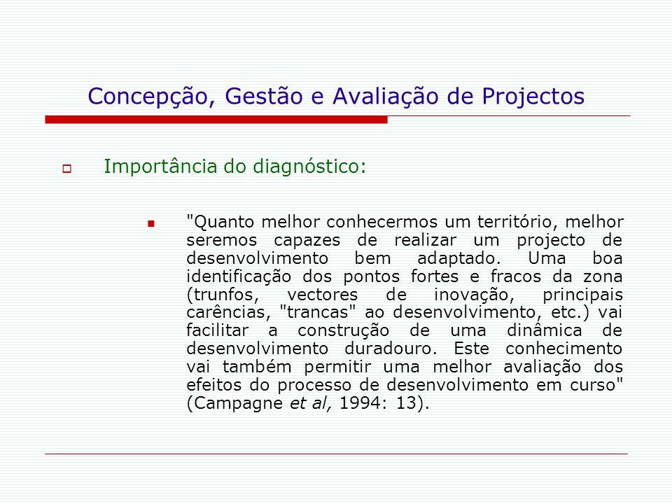Concepção, Gestão e Avaliação de Projectos  Importância do diagnóstico:
