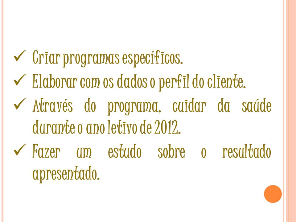4ª ETAPA Programas