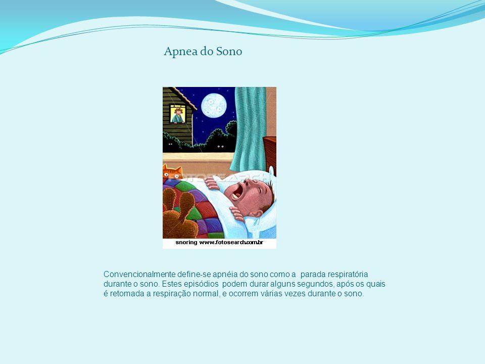 Convencionalmente define-se apnéia do sono como a parada respiratória durante o sono.