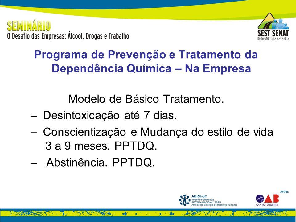 Programa de Prevenção e Tratamento da Dependência Química – Na Empresa Modelo de Básico Tratamento.