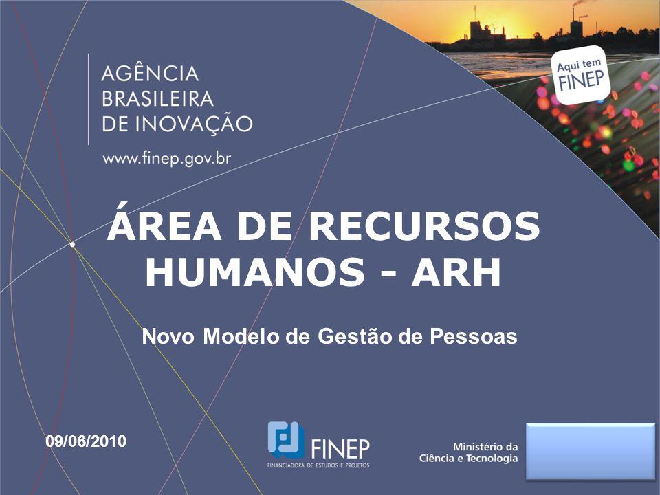 ÁREA DE RECURSOS HUMANOS - ARH Novo Modelo de Gestão de Pessoas 09/06/2010