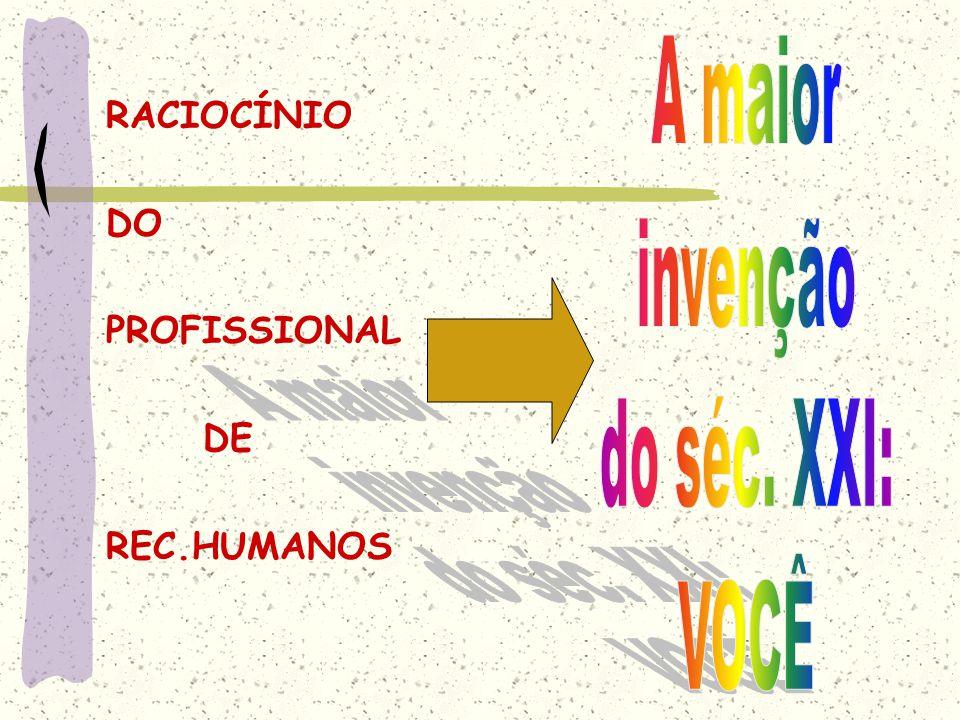 RACIOCÍNIO DO PROFISSIONAL DE REC.HUMANOS
