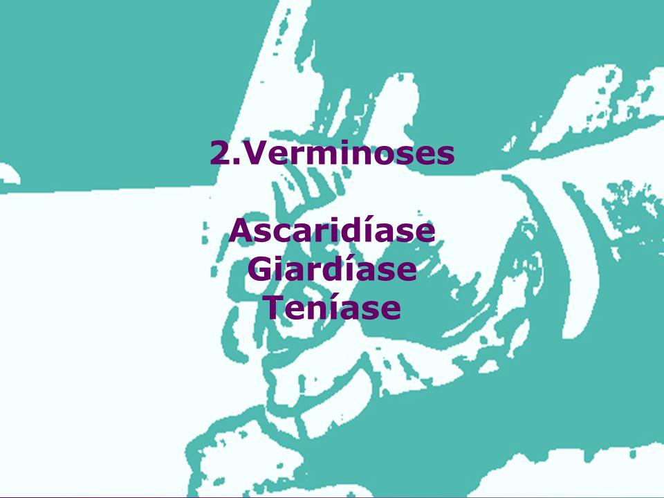 2.Verminoses Ascaridíase Giardíase Teníase