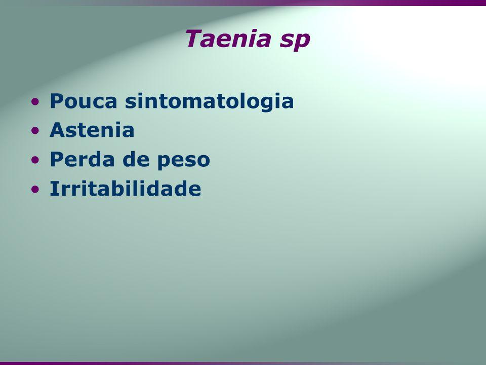 Pouca sintomatologia Astenia Perda de peso Irritabilidade