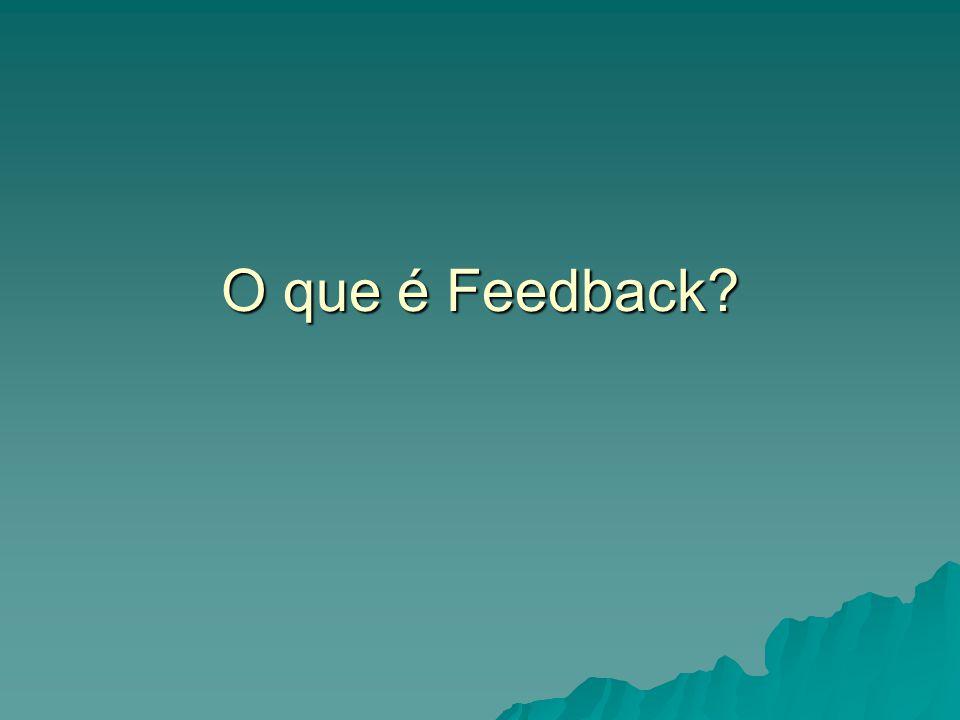 O que é Feedback?