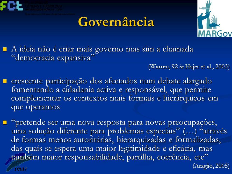 """Governância A ideia não é criar mais governo mas sim a chamada """"democracia expansiva"""" A ideia não é criar mais governo mas sim a chamada """"democracia e"""