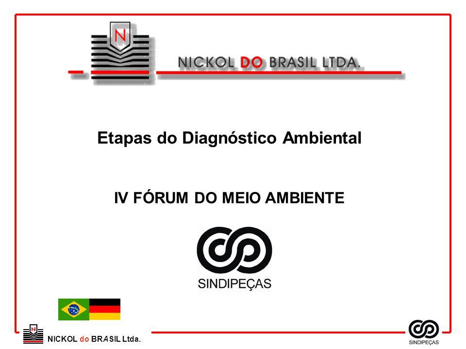 NICKOL do BRASIL Ltda. Etapas do Diagnóstico Ambiental IV FÓRUM DO MEIO AMBIENTE