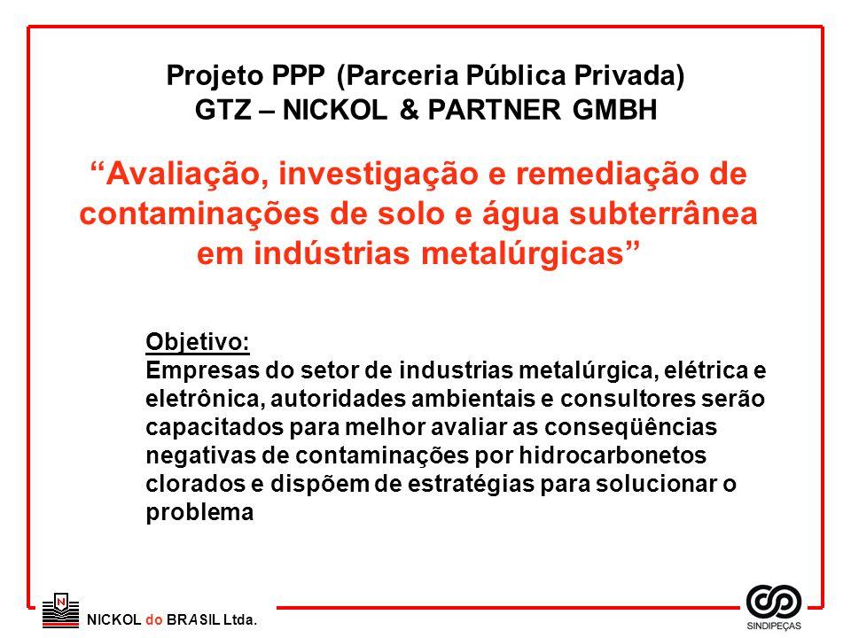 """NICKOL do BRASIL Ltda. Projeto PPP (Parceria Pública Privada) GTZ – NICKOL & PARTNER GMBH """"Avaliação, investigação e remediação de contaminações de so"""