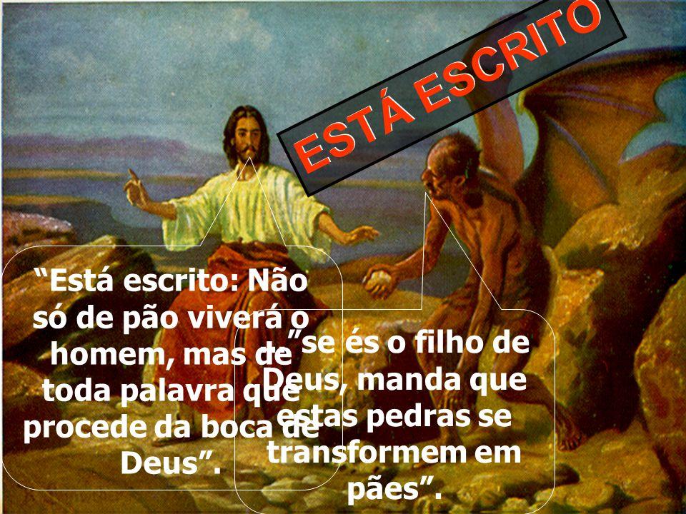 """""""Então foi conduzido Jesus pelo Espírito ao deserto, para ser tentado pelo diabo.E, tendo jejuado quarenta dias e quarenta noites, depois teve fome; E"""