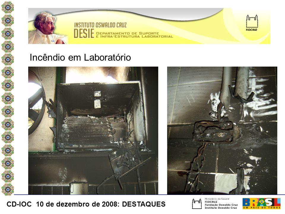 Incêndio em Laboratório CD-IOC 10 de dezembro de 2008: DESTAQUES
