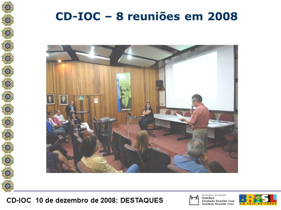 CD-IOC – 8 reuniões em 2008 CD-IOC 10 de dezembro de 2008: DESTAQUES