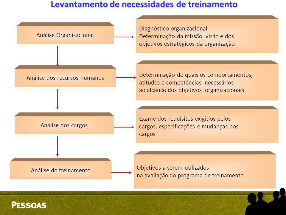 Diagnóstico organizacional Determinação da missão, visão e dos objetivos estratégicos da organização Determinação de quais os comportamentos, atitudes