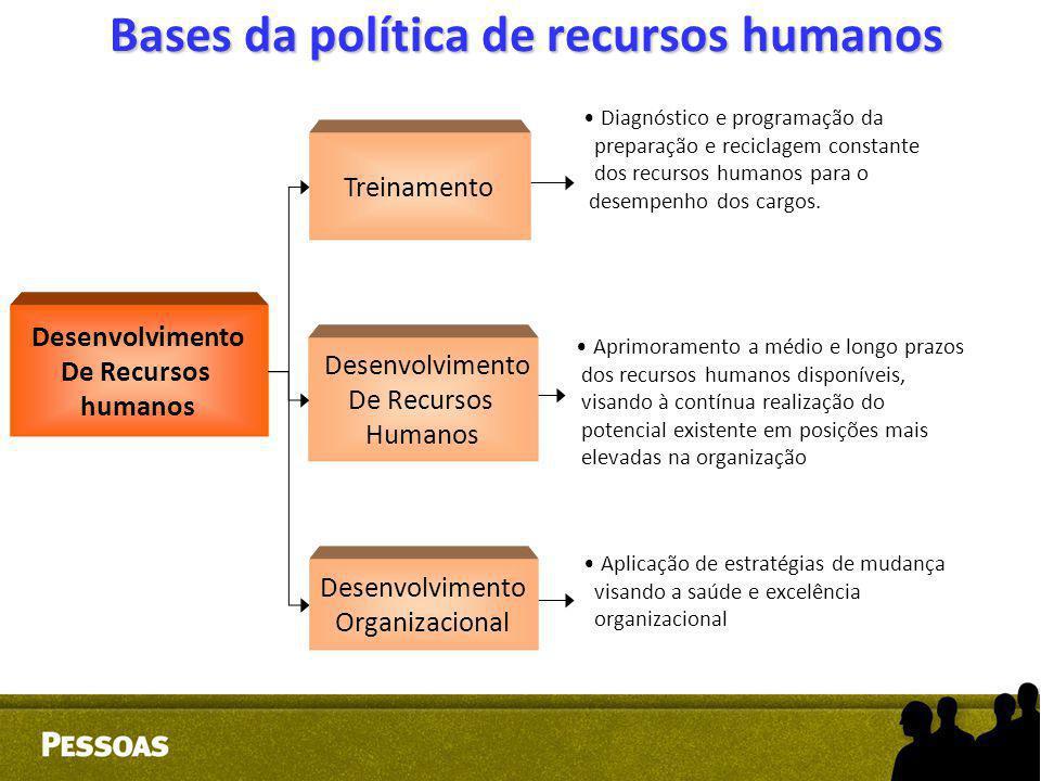 Diagnóstico e programação da preparação e reciclagem constante dos recursos humanos para o desempenho dos cargos. Aprimoramento a médio e longo prazos