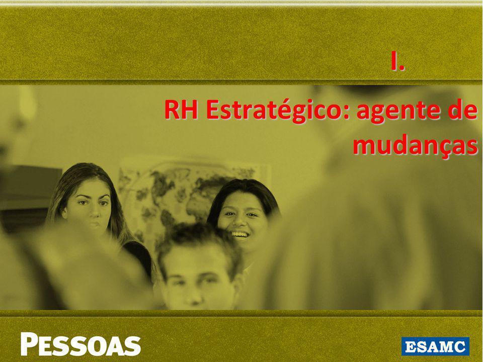 I. RH Estratégico: agente de mudanças