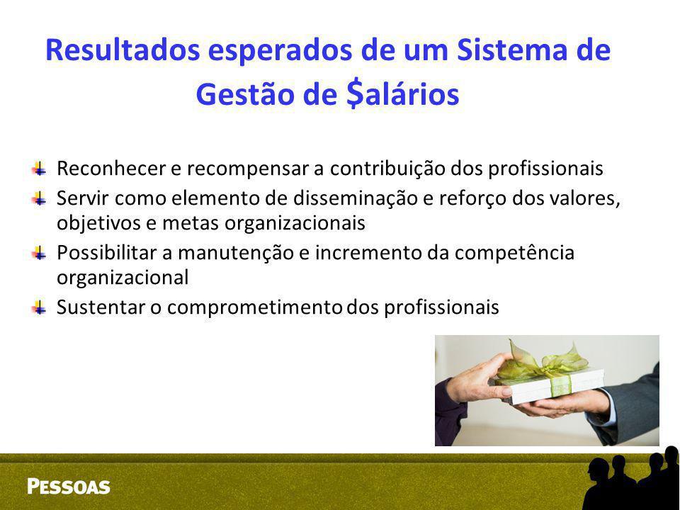 Resultados esperados de um Sistema de Gestão de $ alários Reconhecer e recompensar a contribuição dos profissionais Servir como elemento de disseminaç