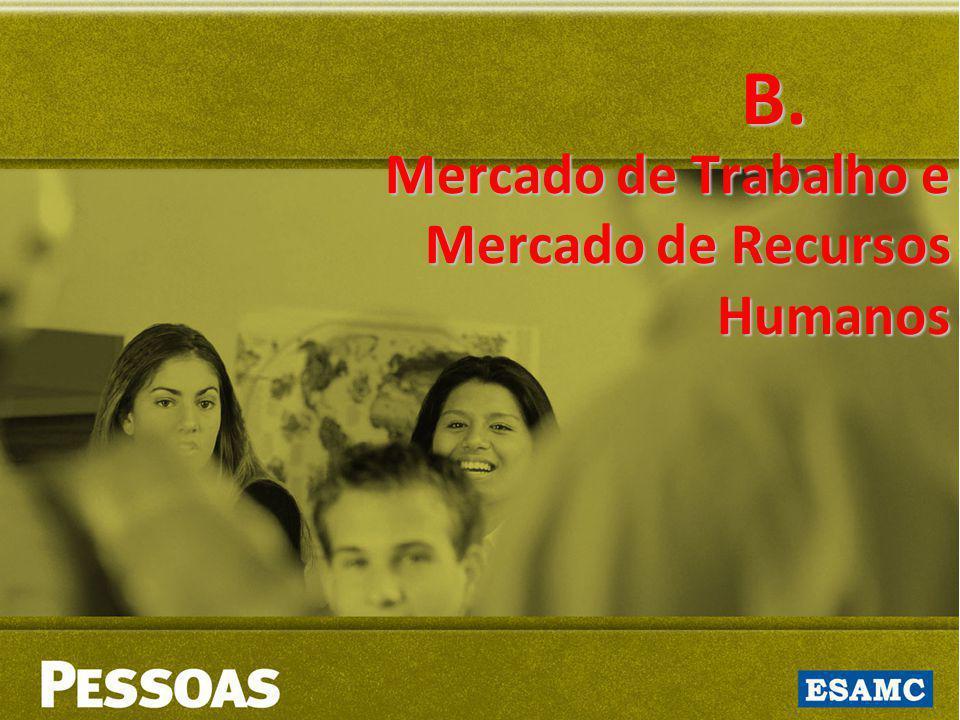 B. Mercado de Trabalho e Mercado de Recursos Humanos