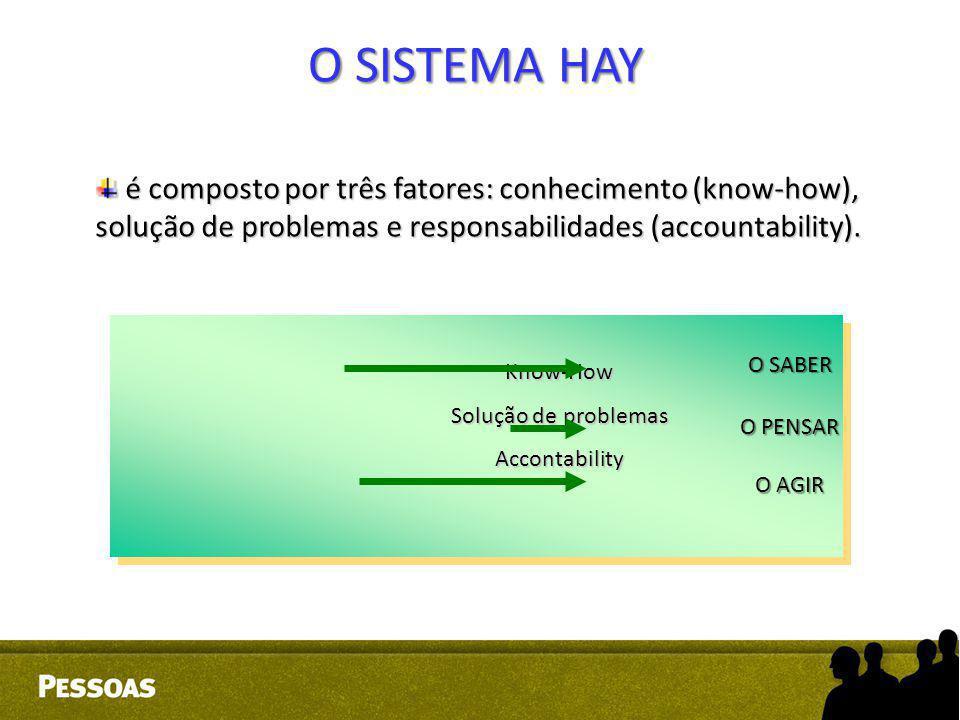 é composto por três fatores: conhecimento (know-how), solução de problemas e responsabilidades (accountability). é composto por três fatores: conhecim