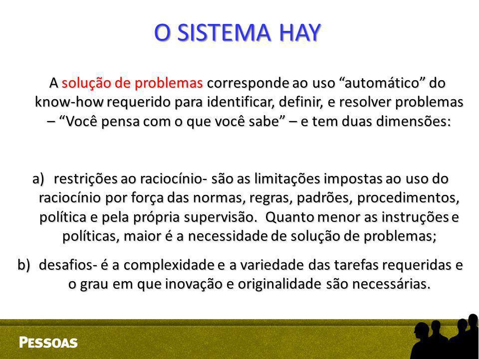 """A solução de problemas corresponde ao uso """"automático"""" do know-how requerido para identificar, definir, e resolver problemas – """"Você pensa com o que v"""