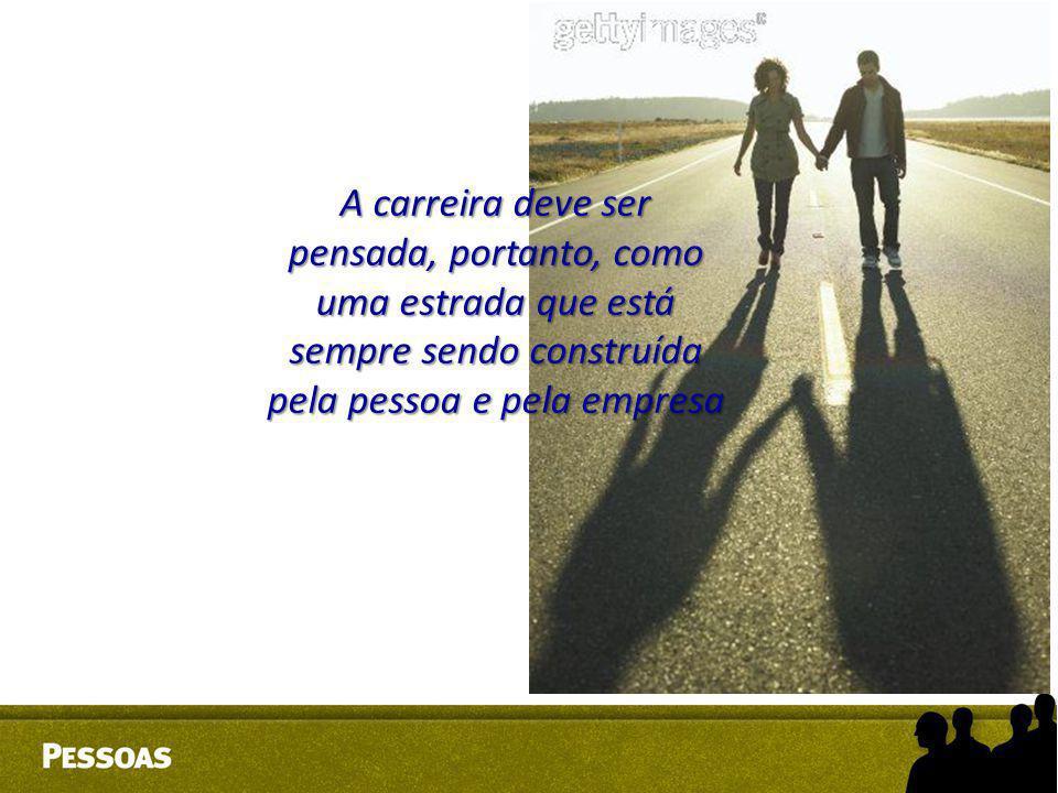 A carreira deve ser pensada, portanto, como uma estrada que está sempre sendo construída pela pessoa e pela empresa