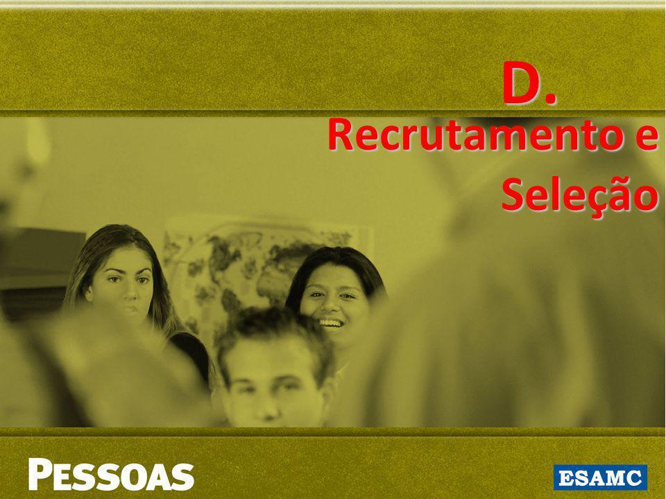 D. Recrutamento e Seleção