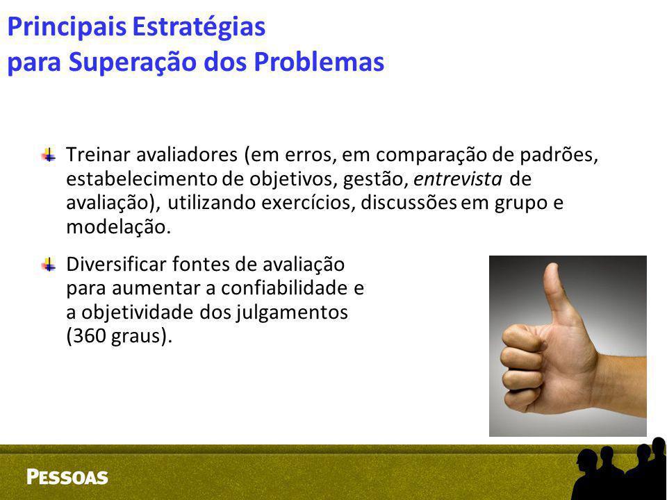 Treinar avaliadores (em erros, em comparação de padrões, estabelecimento de objetivos, gestão, entrevista de avaliação), utilizando exercícios, discus