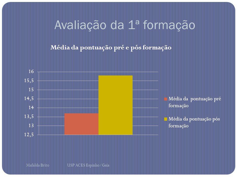 Avaliação da 1ª formação Mafalda Brito USP ACES Espinho/Gaia