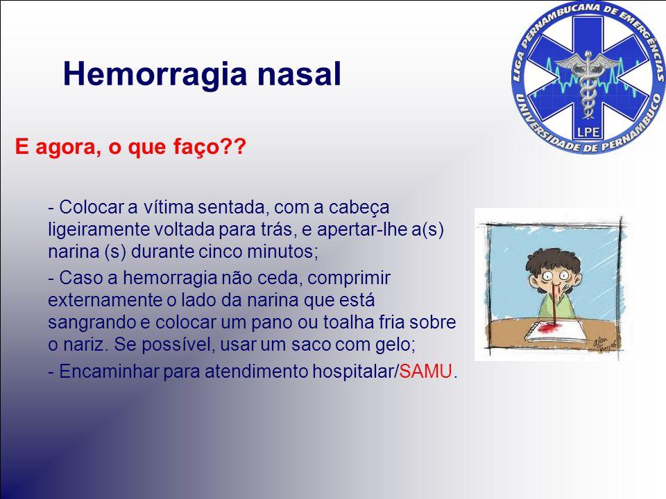 Hemorragia nasal E agora, o que faço?.