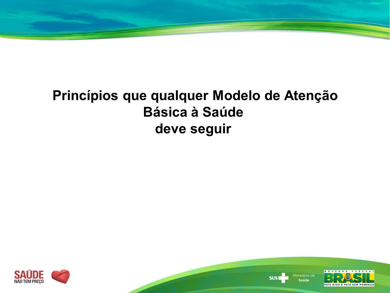 Princípios que qualquer Modelo de Atenção Básica à Saúde deve seguir