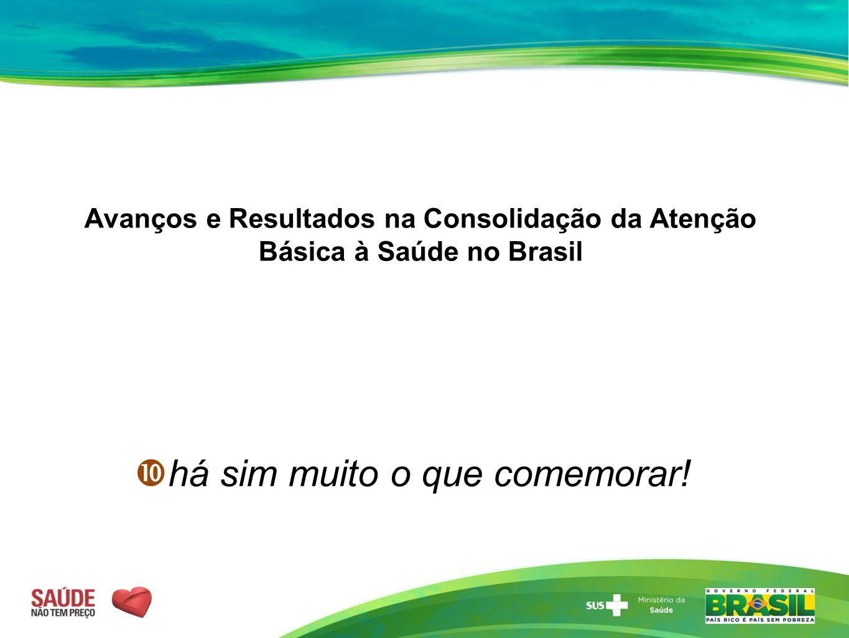 Avanços e Resultados na Consolidação da Atenção Básica à Saúde no Brasil  há sim muito o que comemorar!