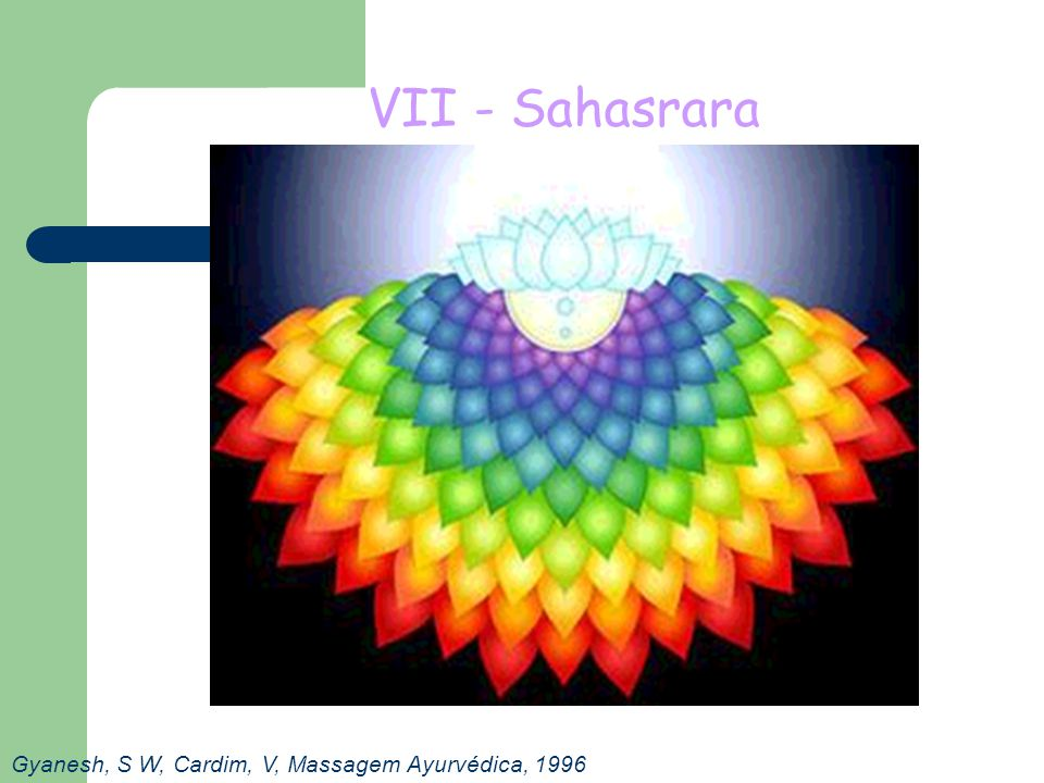 VII - Sahasrara Gyanesh, S W, Cardim, V, Massagem Ayurvédica, 1996