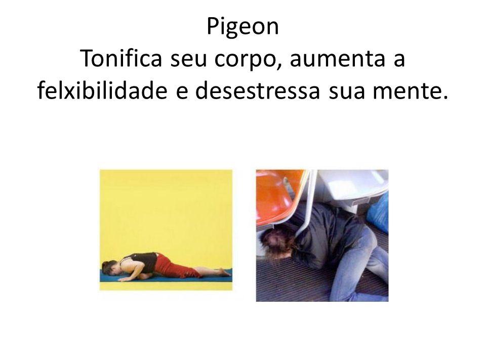 Pigeon Tonifica seu corpo, aumenta a felxibilidade e desestressa sua mente.