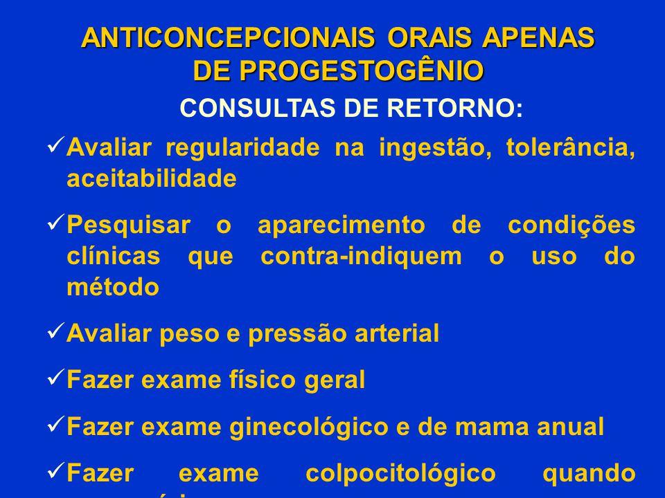 Avaliar regularidade na ingestão, tolerância, aceitabilidade Pesquisar o aparecimento de condições clínicas que contra-indiquem o uso do método Avalia