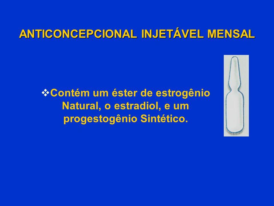  Contém um éster de estrogênio Natural, o estradiol, e um progestogênio Sintético.