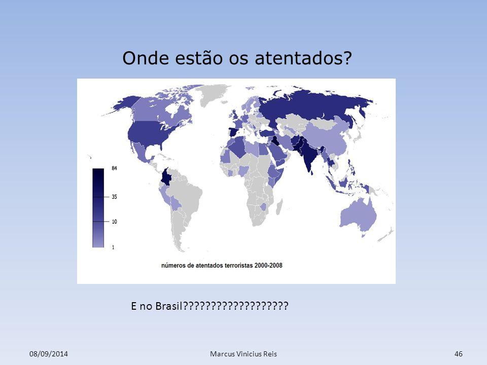 08/09/2014Marcus Vinicius Reis46 Onde estão os atentados? E no Brasil???????????????????