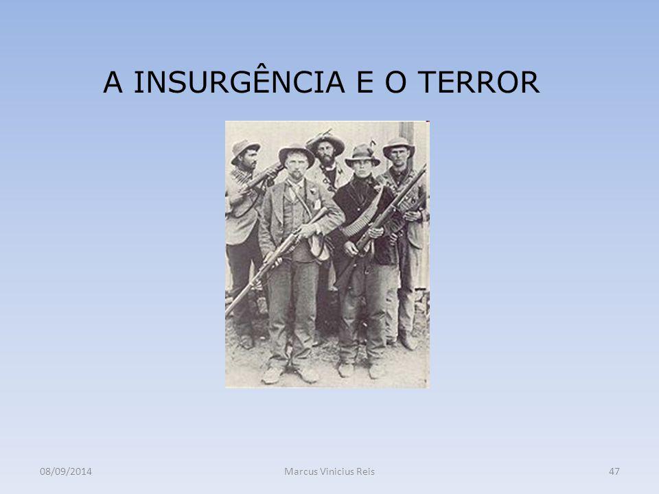 08/09/2014Marcus Vinicius Reis47 A INSURGÊNCIA E O TERROR