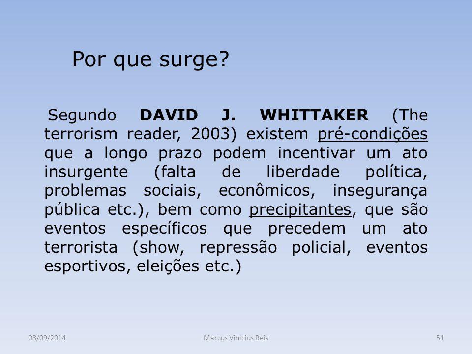 08/09/2014Marcus Vinicius Reis51 Por que surge.Segundo DAVID J.