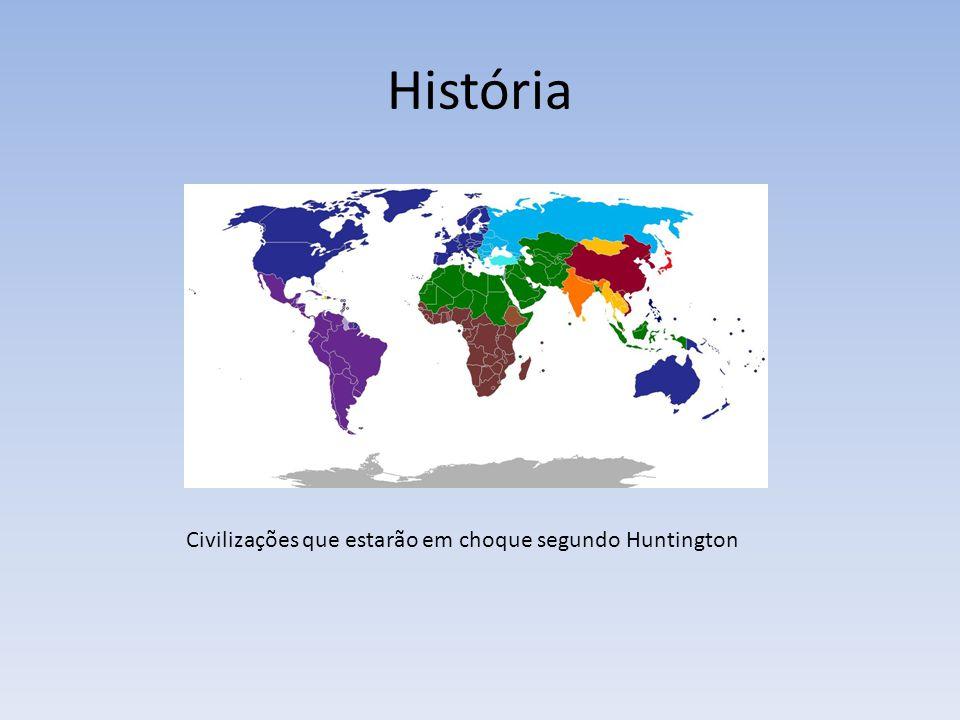 História Civilizações que estarão em choque segundo Huntington