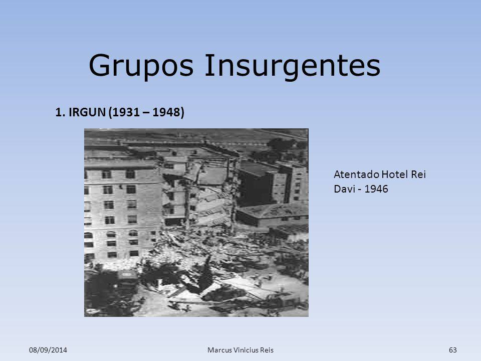 ; 08/09/2014Marcus Vinicius Reis63 Grupos Insurgentes 1.