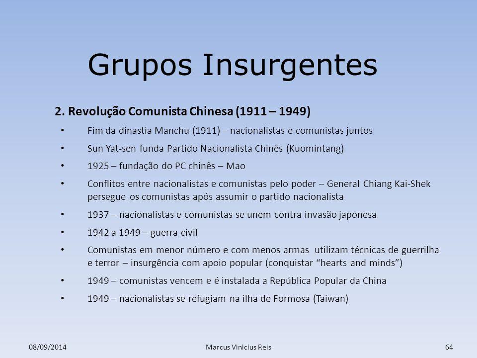 ; 08/09/2014Marcus Vinicius Reis64 Grupos Insurgentes 2.