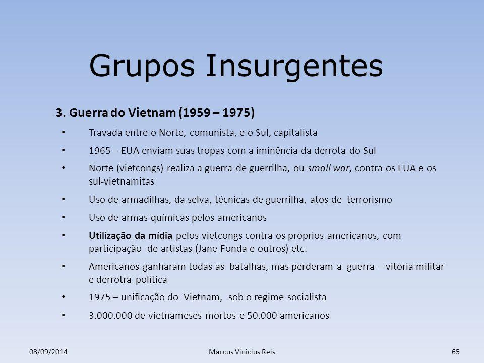 ; 08/09/2014Marcus Vinicius Reis65 Grupos Insurgentes 3.