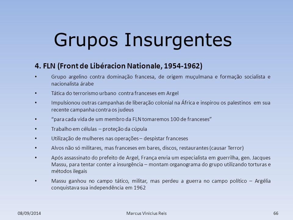 ; 08/09/2014Marcus Vinicius Reis66 Grupos Insurgentes 4.